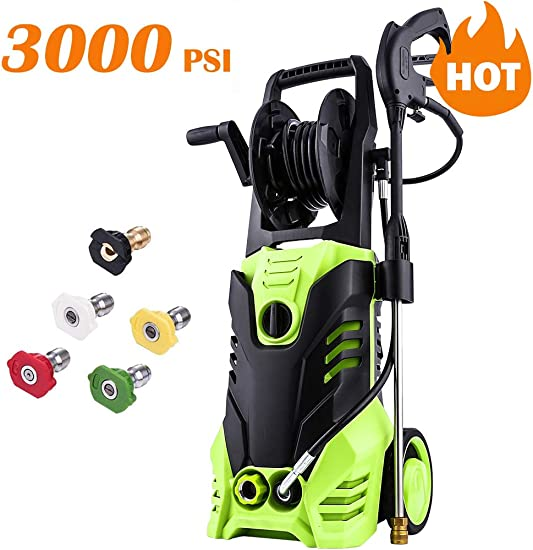 Homdox 3000 PSI Electric Pressure Washer, 1.80GPM High Pressure Washer, Professional Washer Cleaner Machine 1800W Green