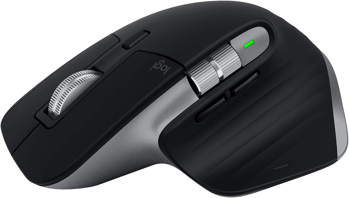 Logitech MX Master 3 Ratón Inalámbrico, Receptor USB, Bluetooth/2.4GHz, Desplazamiento Rápido, Seguimiento 4000 DPI en Cualquier Superficie, 7 Botones, Recargable,PC/Mac/Portátil/iPadOS,Gris oscuro