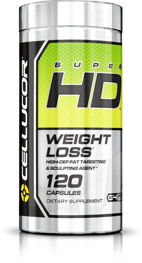 Cellucor SuperHD Thermogenic Fat Burner Weight Loss Supplement for Men & Women, 120 Capsules