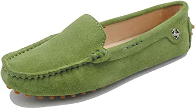 Women Comfortable Suede Driving Shoes
