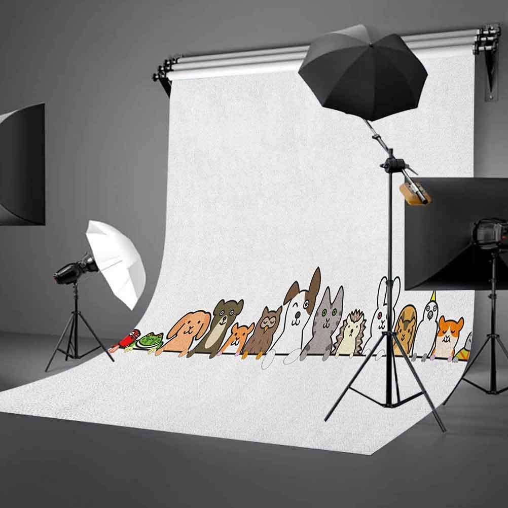 7x10 FT Dog Vinyl Photography Backdrop,Beagle Puppies with Sunglasses Abstract Geometric Pattern Checkered Squares Background for Photo Backdrop Baby Newborn Photo Studio Props