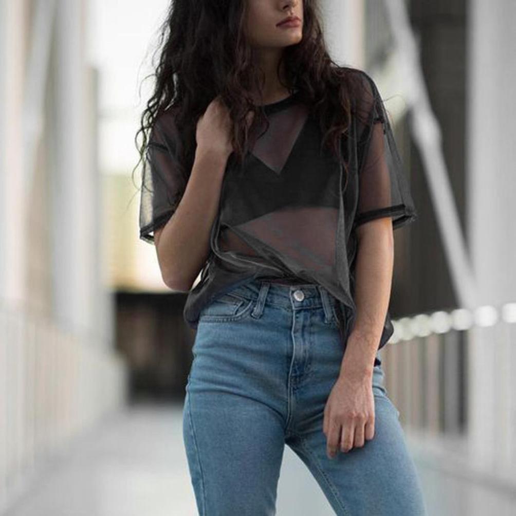 Amazon.com: challyhope Sexy camisa de malla metálica ...