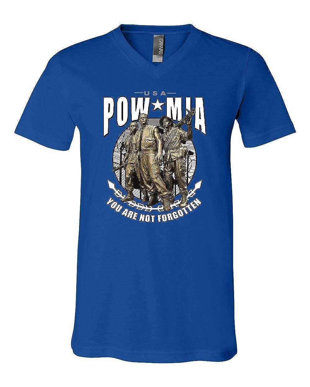 POW MIA You are Not Forgotten V-Neck T-Shirt Military Veteran USA