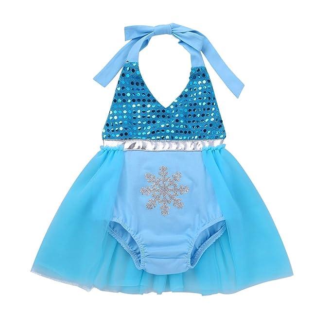 inlzdz Vestido Princesa para Bebé Niña Recién Nacido Vestido ...