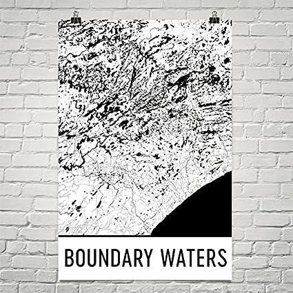Amazon Com Boundary Waters Poster Boundary Waters Art Print
