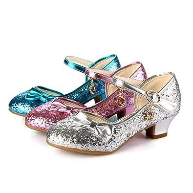 grande vente de liquidation différemment brillance des couleurs Free Fisher Chaussures à Talon bas Fille Enfant Paillette Ballerine Bal  Ballet Cérémonie Mariage