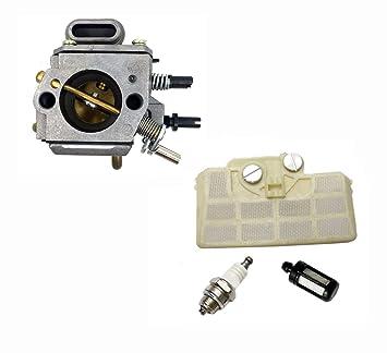 hooai nuevo carburador para bujías filtro de aire Filtro de aceite para Stihl MS290 MS310 MS390 029 039 motosierra: Amazon.es: Coche y moto
