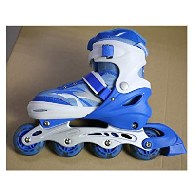 OMUMU Inline Skates for Girls Boys, Adjustable Skates Outdoor Blades Inline Roller Skates for Teens with Light Up Wheels for Indoor Outdoor Backyard Skating : Sports & Outdoors