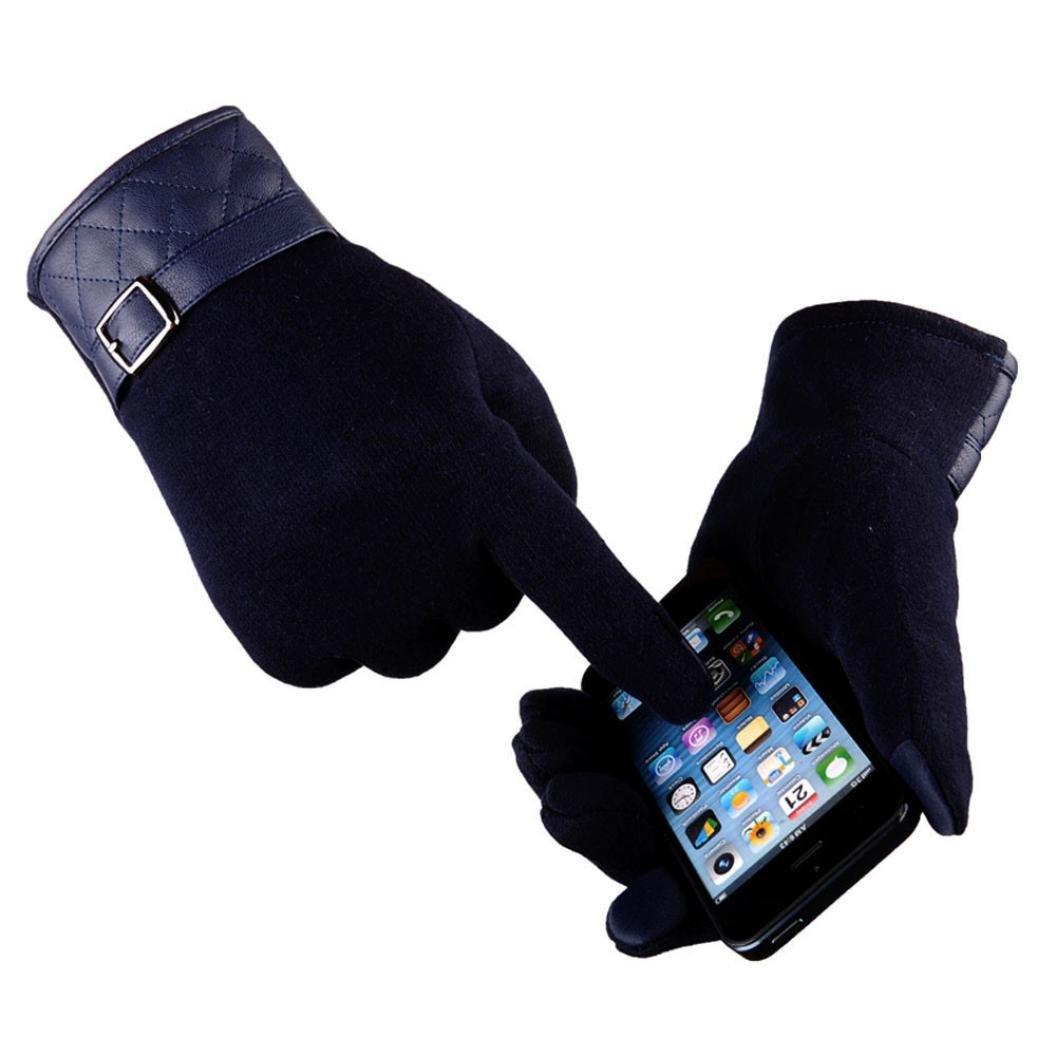Gloves,NOMENI Men Thermal Winter Touch Screen Motorcycle Ski Snow Snowboard Gloves (Navy)