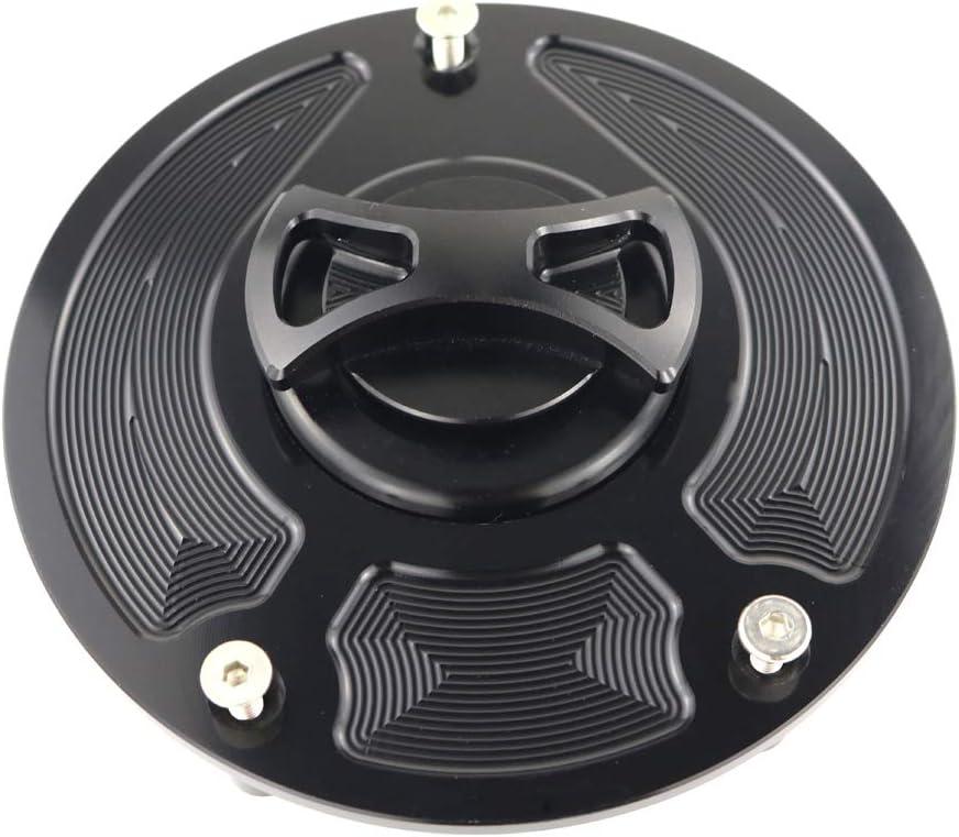 Fuel Cap Xitomer CNC Aluminum Alloy for Honda CB1000R// CBR1000RR// CBR1100XX Blackbird// CBR600F4i// CBR600RR// CBR954RR// RC51// VFR800// VTR1000F Gas Tank Cover Black