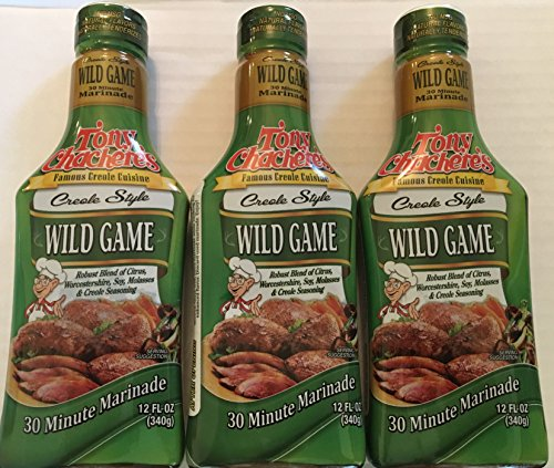 Tony Chachere's Wild Game 30 Minute Marinade 12 Oz, 3 -