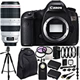 Canon EOS 5DS Digital SLR Body with Canon EF 100-400mm f/4.5-5.6L IS II USM Lens 20PC Accessory Kit. Includes 3PC Filter Kit (UV-CPL-FLD) + 4PC Macro Filter Set (+1,+2,+4,+10) + 2 Replacement LP-E6 Batteries + AC/DC Rapid Home & Travel Charger + MORE - International Version (No Warranty)
