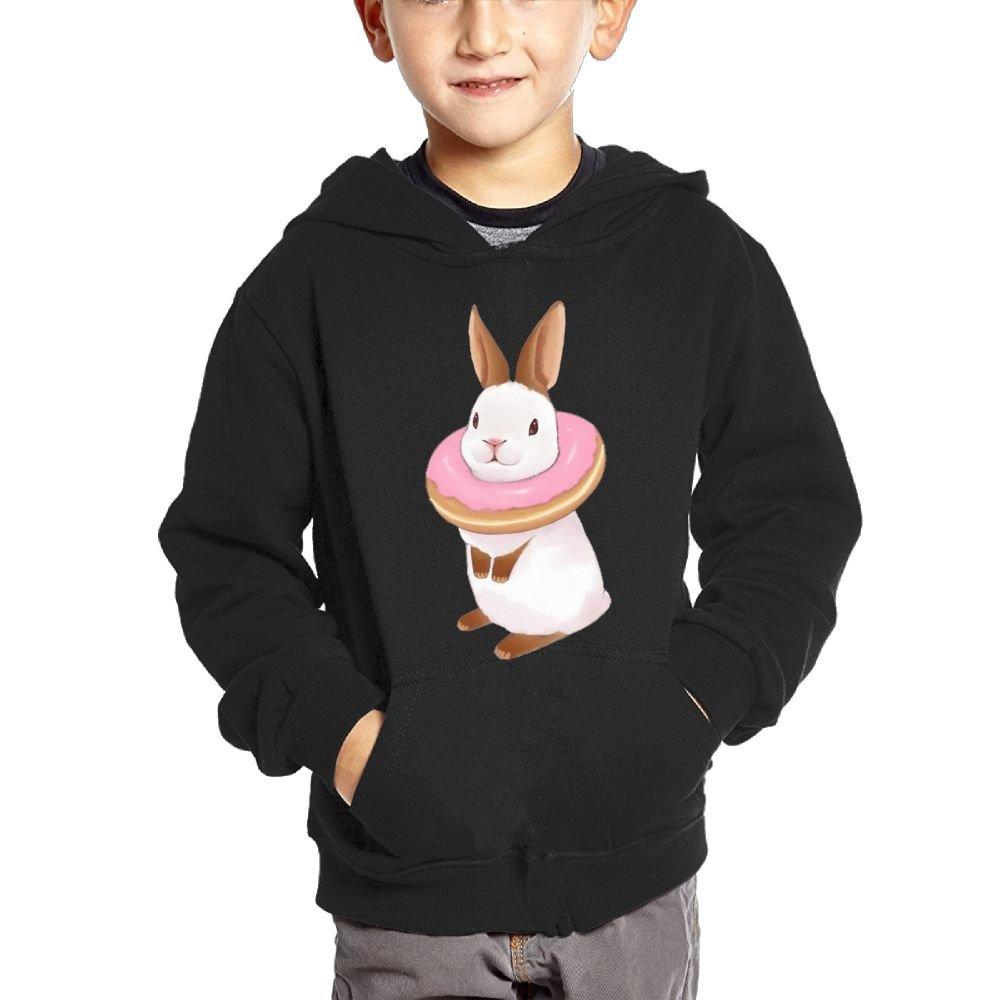 Small Hoodie Rabbit Donuts Boys Casual Soft Comfortable Sweatshirts Kangaroo Pocket Hoodies