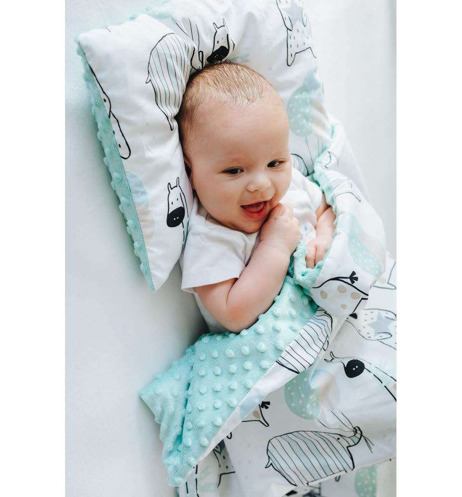 Fleecedecke Kuscheldecke hergestellt in Europa fur Baby and Kinder 100/% Baumwolle Babydecke Bagger Krabbeldecke