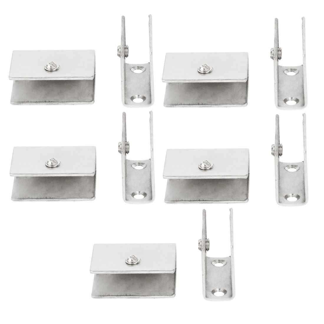 uxcell Office Adjustable Guardrail Door Glass Shelf Clamp Brackets Clips Holder Support 10pcs