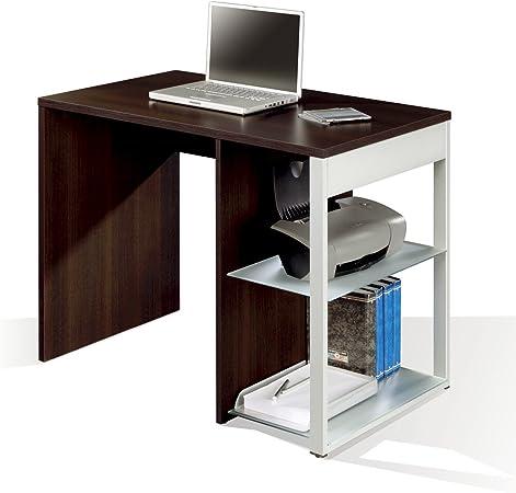Mesa de oficina, ordenador o escritorio en color wengue, pata ...