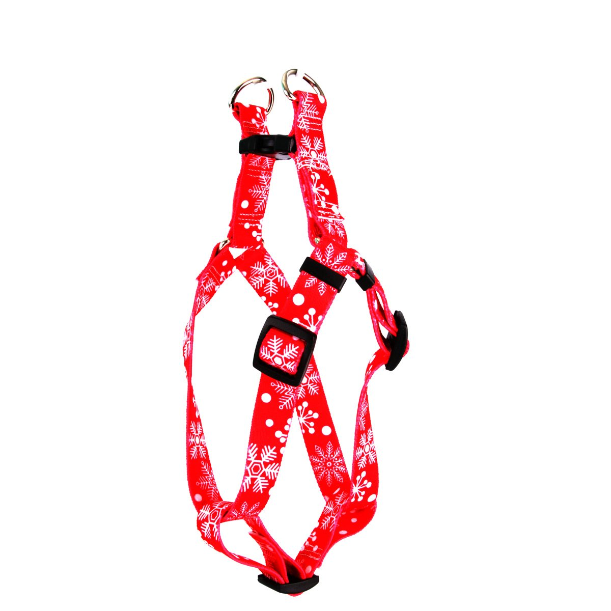 Yellow Dog Design Red Snowflakes Step-in Dog Harness, X-Small-3/8 Wide and fits Chest of 4.5 to 9'' by Yellow Dog Design