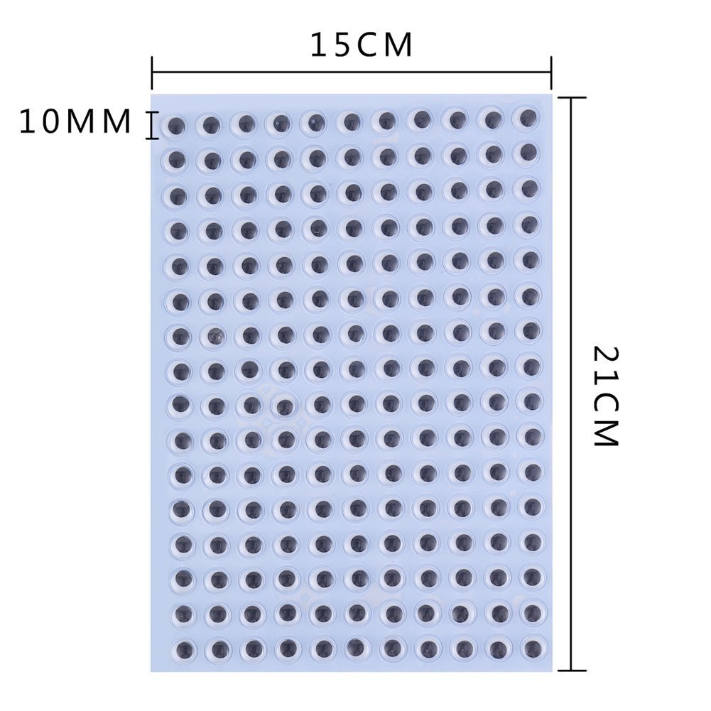 DECORA 10mm Wiggle Googly Eyes with Self Adhesive for DIY Scrapbooking Crafts Toy Accessories