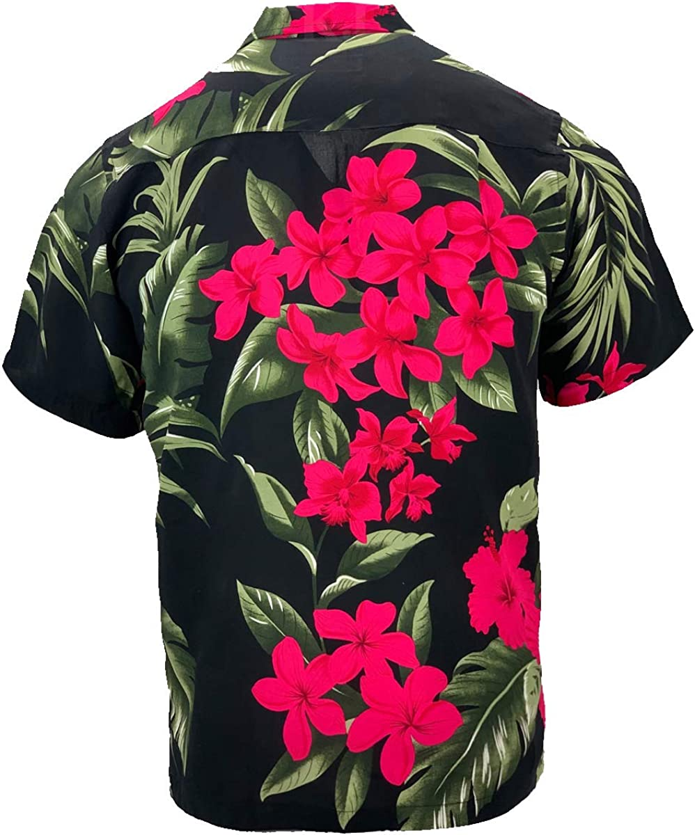 Tropical Luau Beach Floral Print Men/'s Hawaiian Aloha Shirt