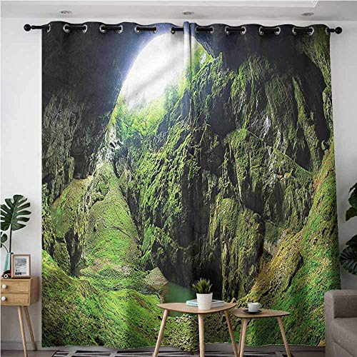 XXANS Curtains for Living Room,Natural Cave,Punkevni Cave in Czech,Darkening Thermal Insulated Blackout,W72x96L