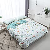 Zhiyuan Washable Cotton Fiber Lightweight Summer Duvet Blanket, Animal World, Full