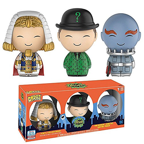 Funko Dorbz Batman Classic TV Villains The Riddler, King Tut & Mr.Freeze NYCC Fall Convention 2017 Exclusive Limited Edition 3-Pack Vinyl Figures