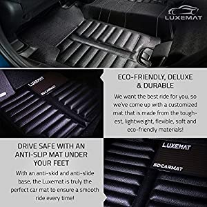 Luxemat Custom All Weather 5D Car Mat By for 2016-18 Lexus RX (Black)| Anti-Slip Auto Flooring | Waterproof & Dirt Proof | Eco-Friendly & Easy To Clean | Better Than Rubber Car Mat
