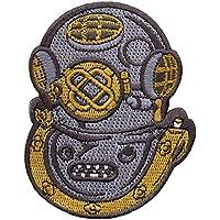 Mark V Helmet Hard Hat Patch Embroidered Iron On Navy Rescue Scuba Deep Diving Emblem Souvenir