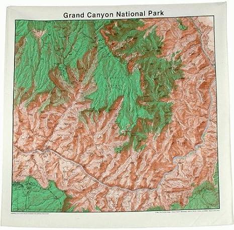 Mapa Topográfico Bandana Parque Nacional del Gran Cañón: Amazon.es ...