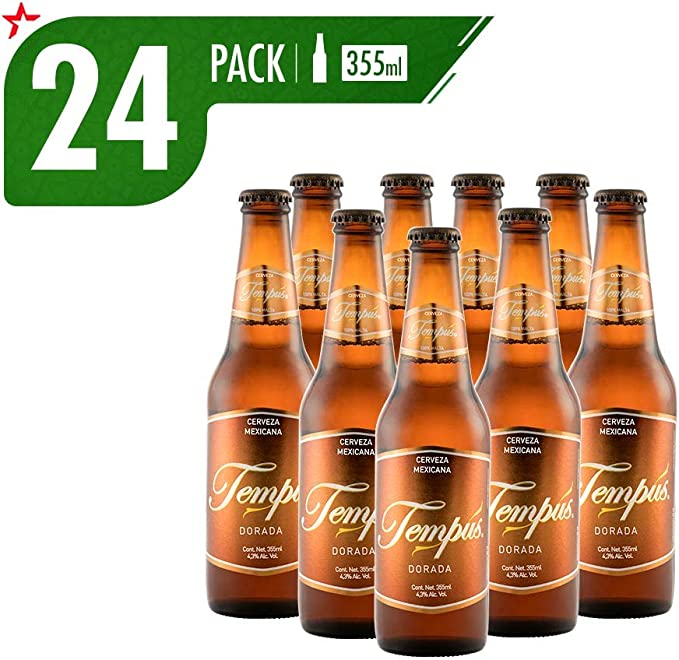 Cerveza Artesanal Tempus Dorada 24 Pack Botella 355 Ml