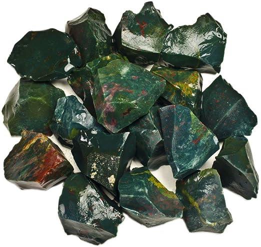 1 lb Bulk Lot Medium Tumbled Bloodstone Crystal Healing Gemstone 16 oz Jasper
