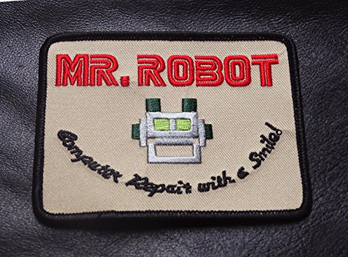 MR ROBOT FSOCIETY TV SHOW Embroidery Patch Halloween costume Badge Easy Iron -