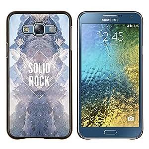 TECHCASE---Cubierta de la caja de protección para la piel dura ** Samsung Galaxy E7 E700 ** --diamante roca sólida cielo cielo universo