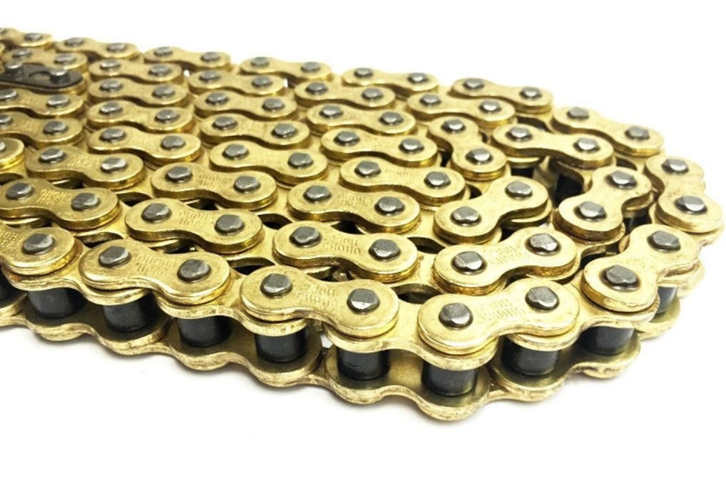 Motorcycle Drive Chain 520-112 Links Gold