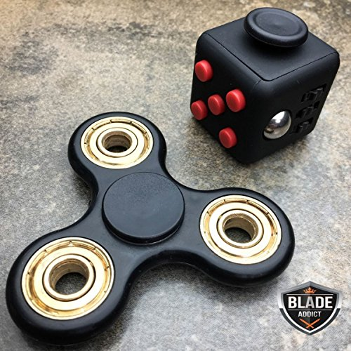 EEFIDGET CUBE TRI HAND SPINNER ANXIETY STRESS RELIEF DESK TOY FOCUS ADHD (Spinny Hat)