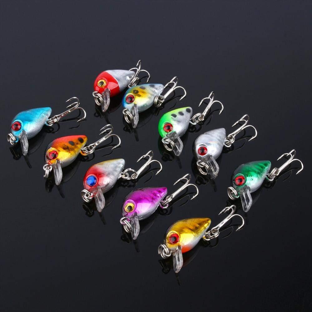 10 Unids//Set Se/ñuelos de Pesca de Pl/ástico de Vida Reales Se/ñuelos de Pesca Se/ñuelos Cebo Mejor Cig/üe/ñe Duro Accesorios de Gancho de Pesca Artificial