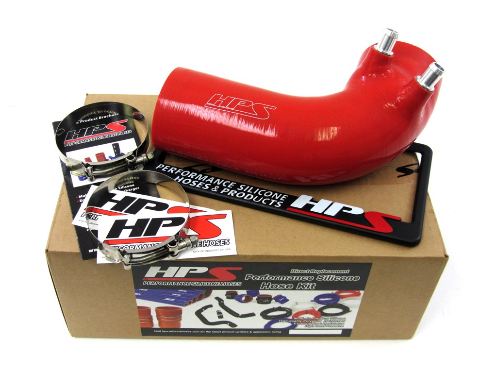 HPS 57-1499-RED Silicone Air Intake Hose Post MAF Tube by HPS
