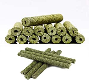 TAI JI 35pcs Timothy Hay Sticks Chew Toys for Guinea Pig Chinchillas Rabbit Hamsters Squirrel and Other Small Animals