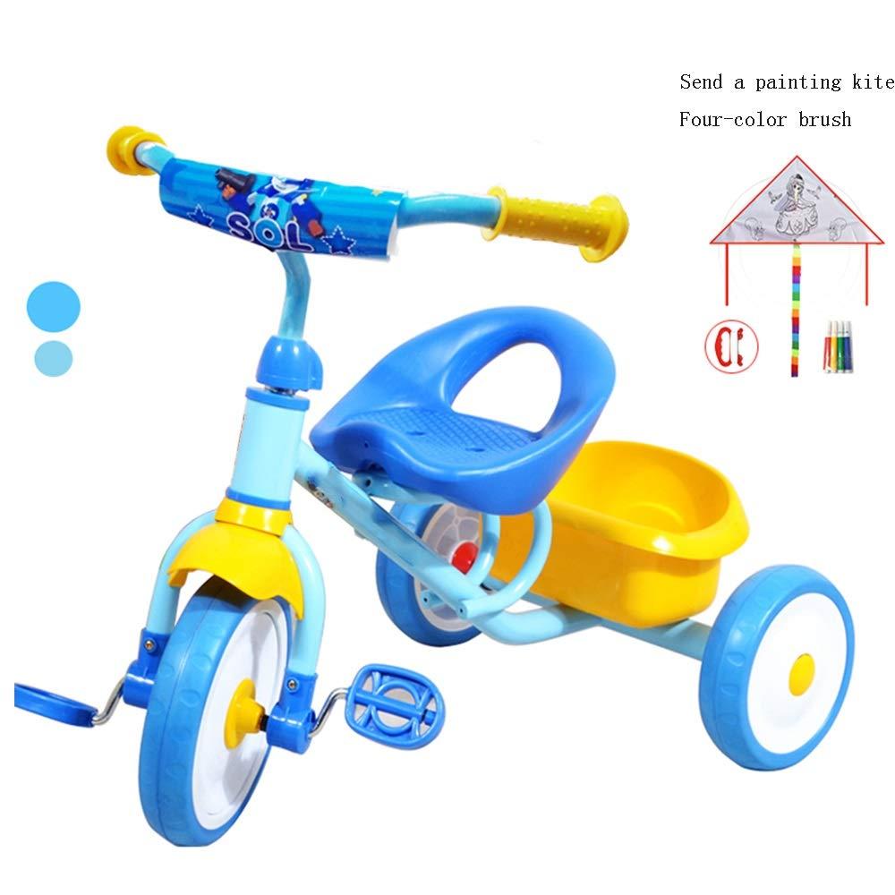 YUMEIGE 子ども用自転車 子供の三輪車子供ペダル自転車1-6年古い、ベビーカー男の子女の子おもちゃの車の荷重重量30キログラム 利用できるサイズ (色 : 青)  青 B07QJVZ6L4