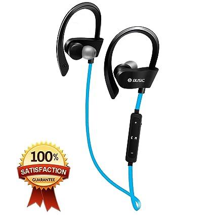 DAMIGRAM Auriculares Inalámbricos Bluetooth, Auriculares Deportivos Ligeros con Micrófono y Cancelación de Ruido y Impermeables