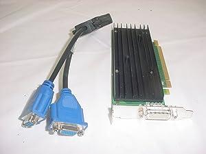 HP NVIDIA Quadro NVS 290 256MB PCI-Express Video Card LP 456137-001 VGA Cable