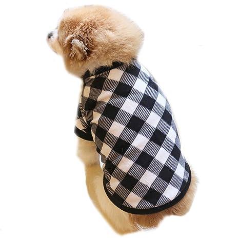 gatos accesorios Ropa de abrigo Cachorro Ropa calida abrigo de perro camiseta de algodón ropa navidad