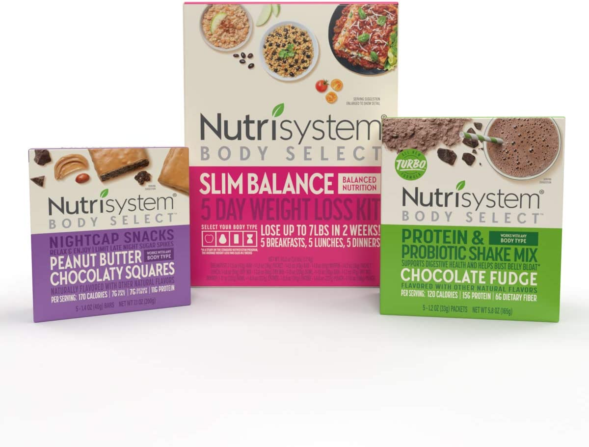Nutrisystem® Body Select™ Weight Loss Bundle: Delicious Meals, Snacks and Shakes to Keep You Satisfied