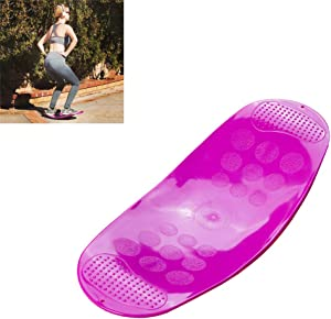 LTLGHY 60CM Board Fitness Board for Adults – The Abs Legs Core Workout Balancing Board Fit Board for Stability Training, Twisting Exercise, Abs Arms Legs Balance,Purple
