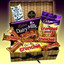 Cadbury Crunchie Chocolate Lovers Treasure Hamper Gift Box - Bars, Rocks, Biscuits & Dairy Milk Bar - Great Birthday Gift Idea - By Moreton Gifts