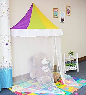 Kids Bed Canopy Indoor Princess Rainbow Play Tent with 23ft LED Star String Lights & Amazon.com: Ikea Charmtroll Bed Canopy Beige: Home u0026 Kitchen