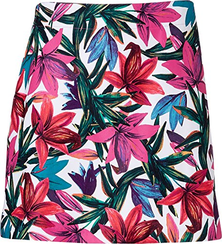 Lady Hagen Women's Paradise Found Floral Printed Golf Skort Extended Sizes