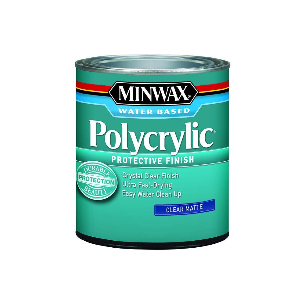 Minwax 622224444 Polycrylic Protective Finish, 1 quart, Matte