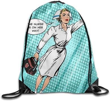 Beauty Nurse Kawaii Girls Drawstring Bag Large Capacity Gym Sack Bag Gymnastics Beauty Nurse 31: Amazon.es: Equipaje