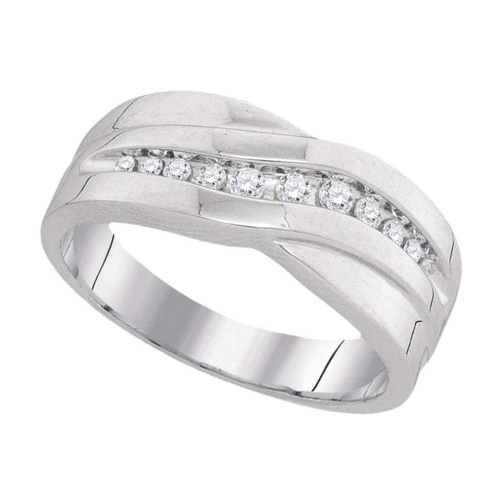 Jewels By Lux Anillo de Banda de Aniversario Masculino de Diamante ...